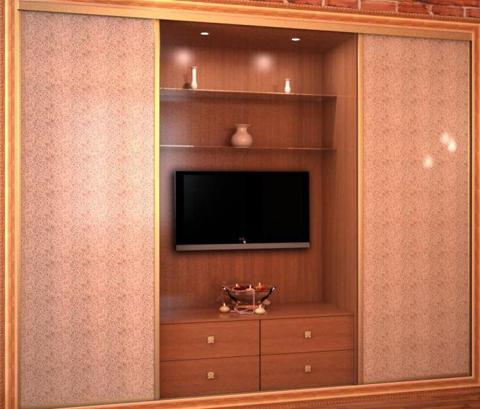 Шкафы-купе с дверями отделанными кожей
