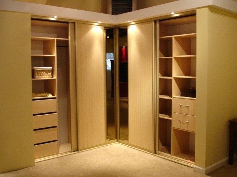 Шкафы-купе угловой дизайн внутри