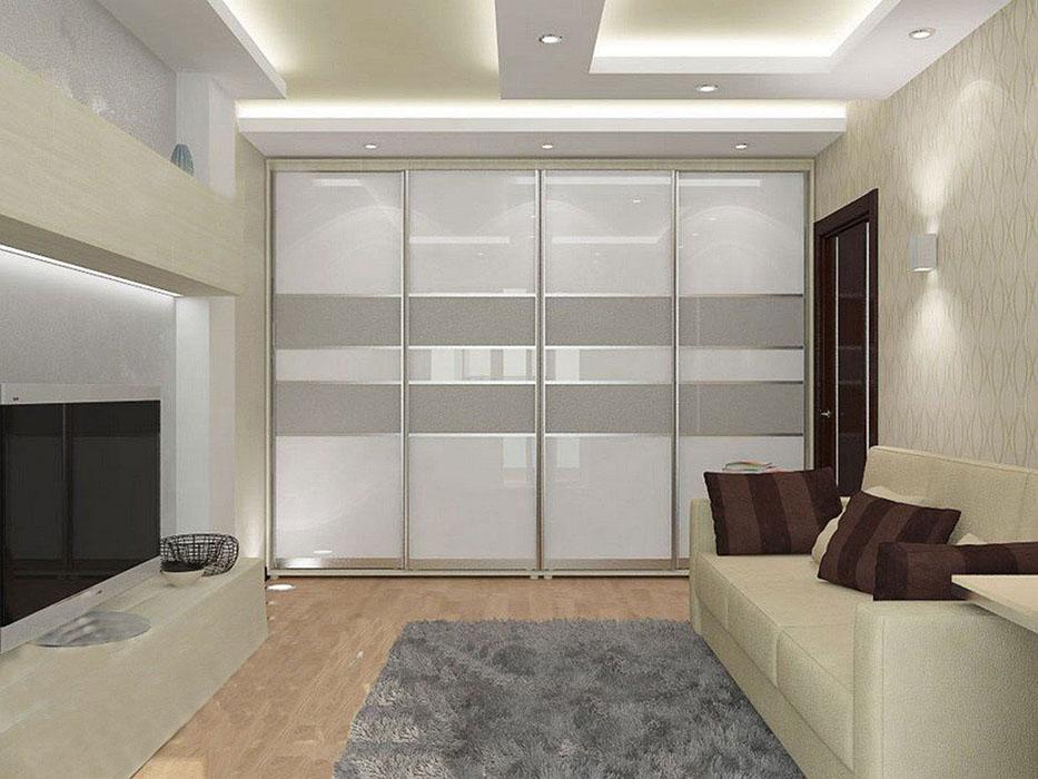 Шкафы купе в зале дизайн, идеи