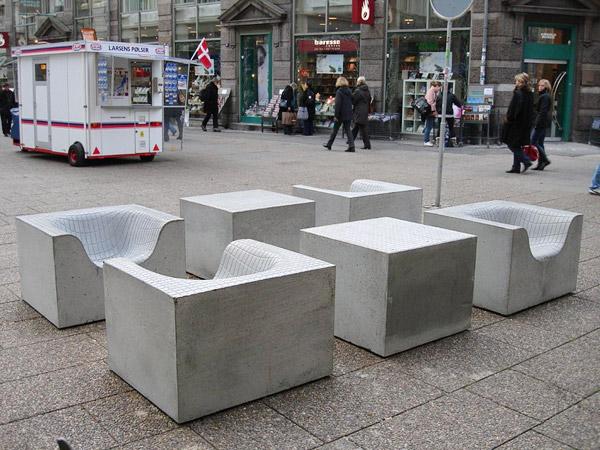 Сиденья на основе бетона