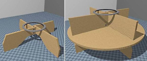 Склеиваем детали стола