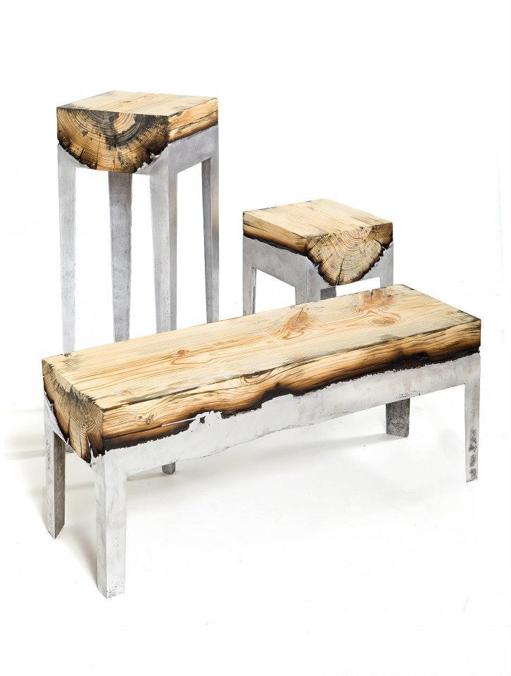 Слияние дерева и металла в интерьере