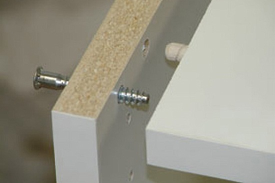 Соединение деталей с помощью шканта