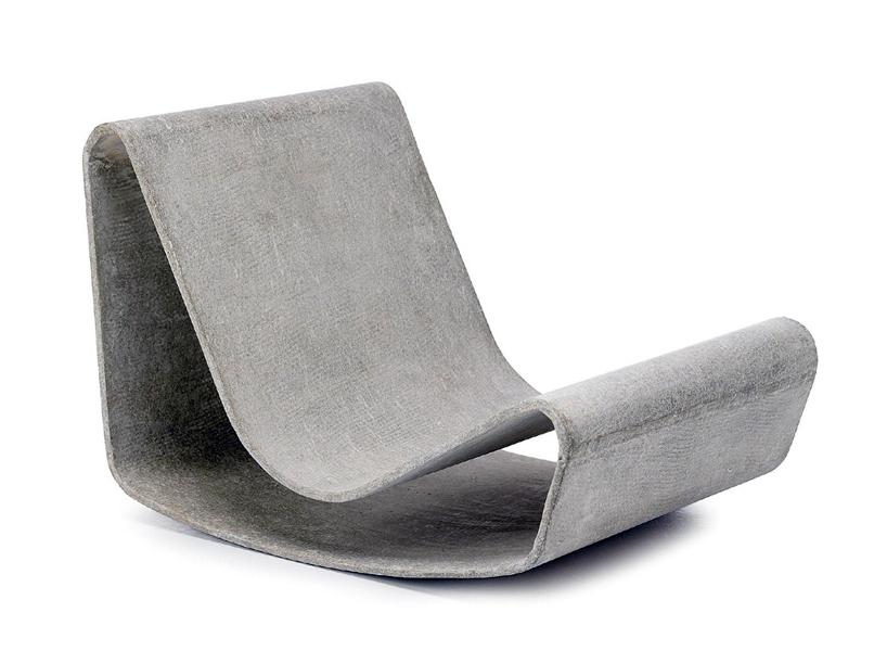 Современное бетонное кресло