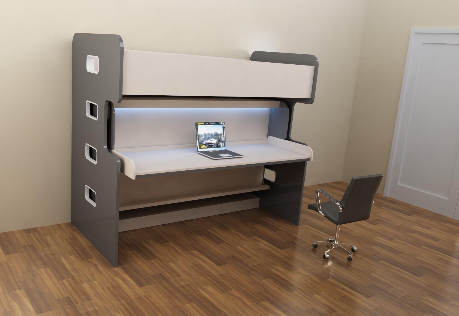Стол-двухъярусная кровать