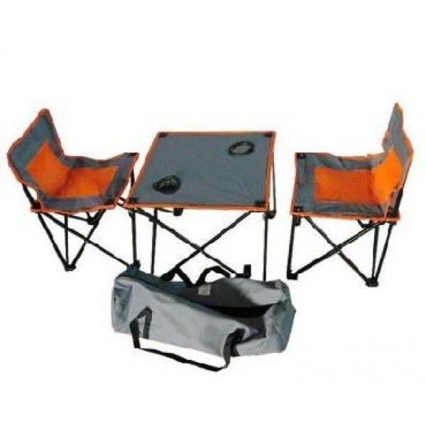 Стол складной с двумя стульями