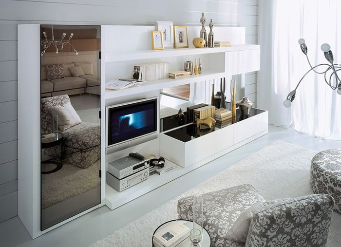 Светлые элементы мебели