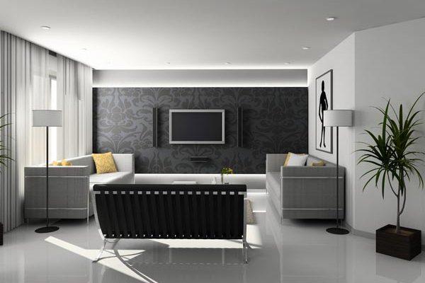 Темные элементы мебели на кухне