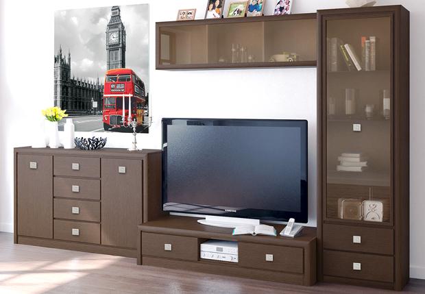 Темные коричневые фасады мебели