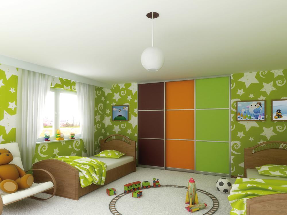Трехцветный шкаф