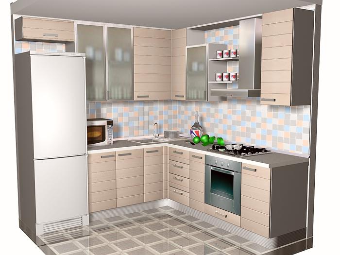 Угловая компактная кухня и ее оформление