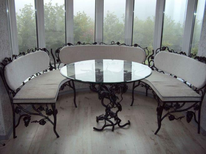 Угловая мебель из кованых элементов