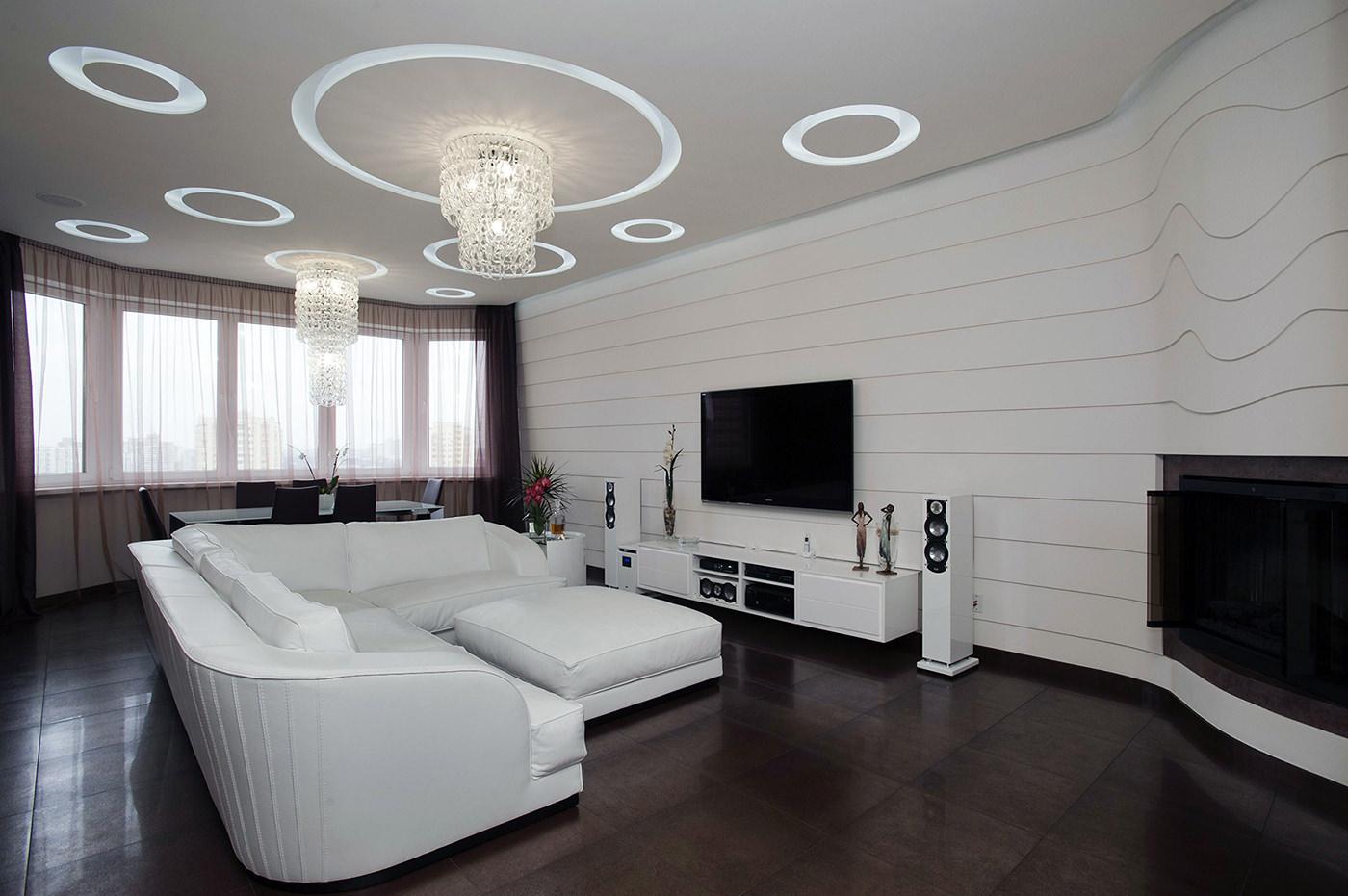 Угловой белый диван