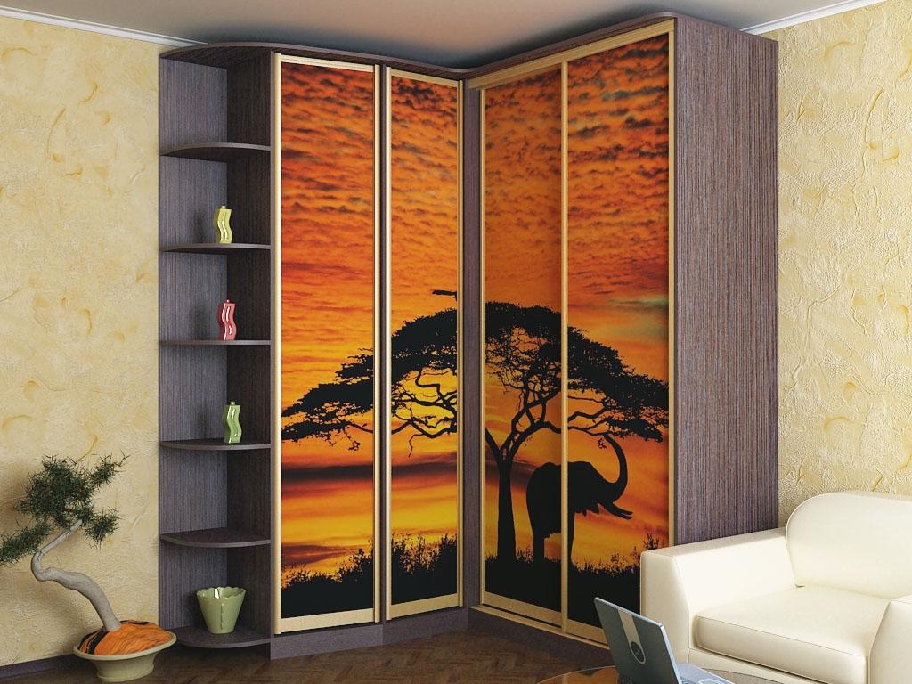 Угловой шкаф 4 двери