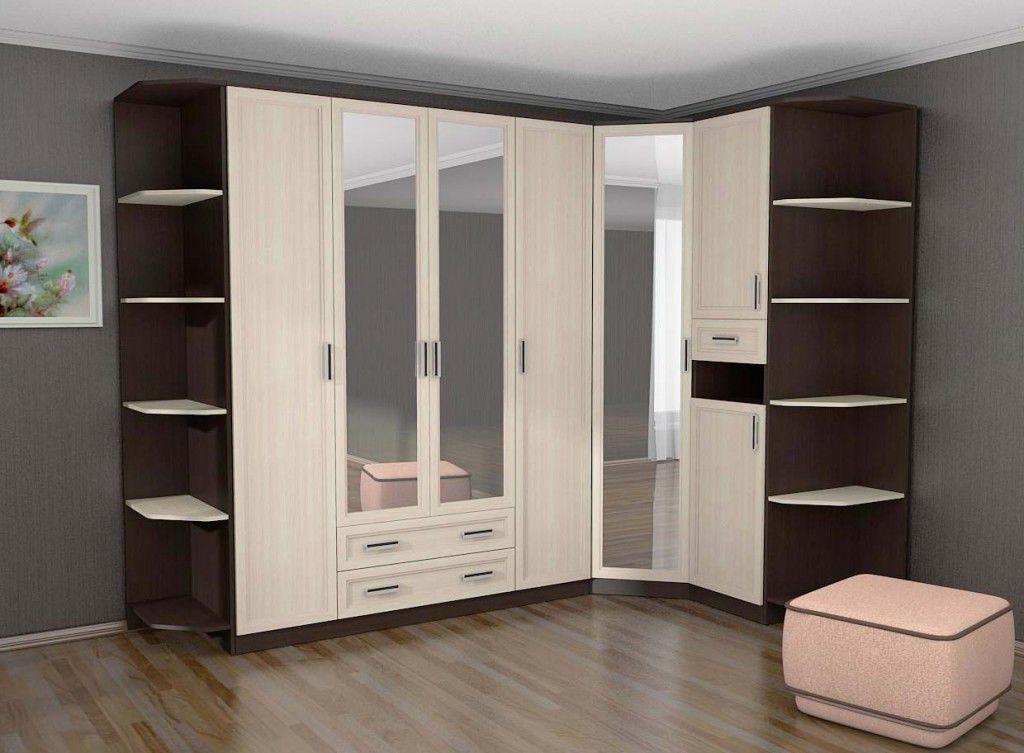Угловой шкаф для одежды, особенности и варианты