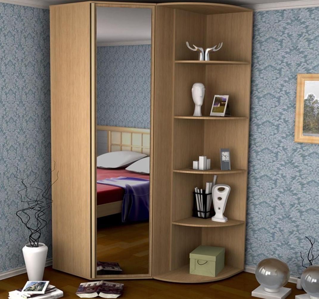 Угловой шкаф купе в спальню - разновидности