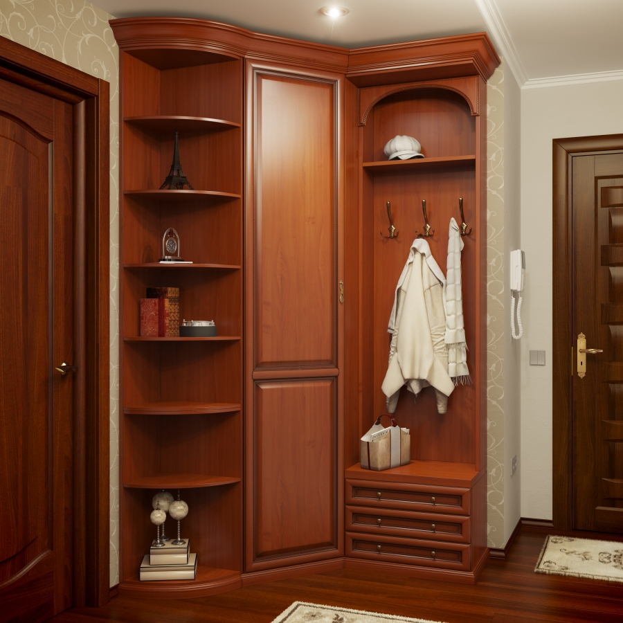 Угловой шкаф в коридор, параметры и основы