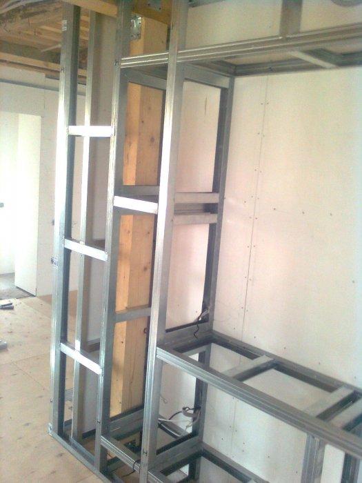 Установка полок гипсокартонной мебели