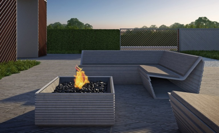 Вариант бетонной красивой мебели