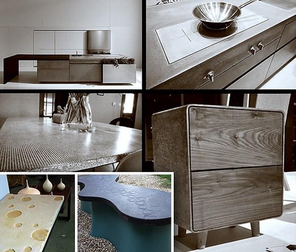 Варианты мебели для основе качественного бетона