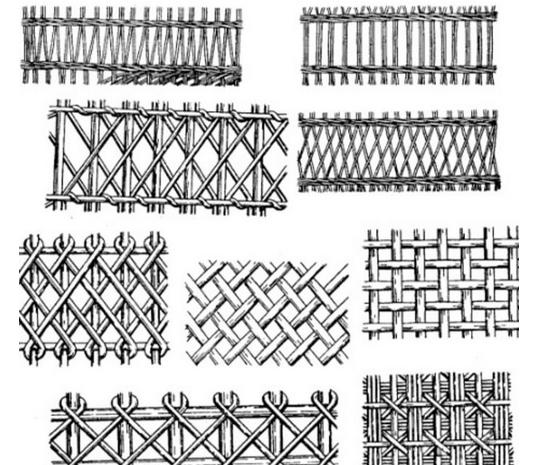 Варианты плетения мебели