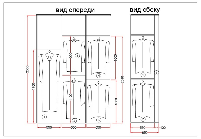 Варианты проектирования шкафа