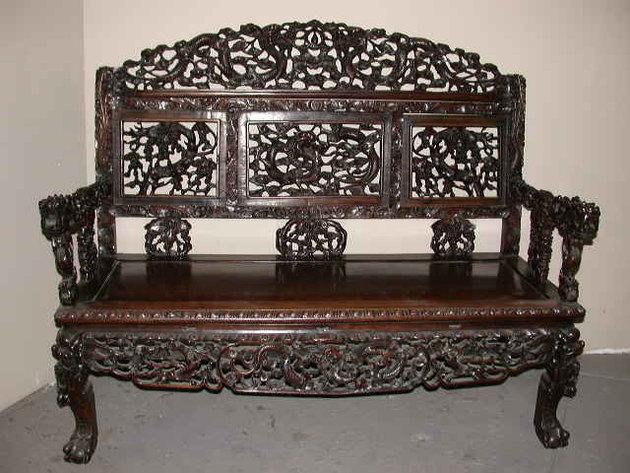 Винтажная скамейка