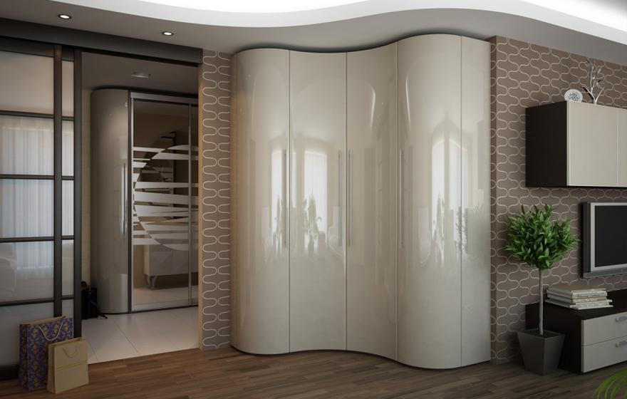 Волнообразный шкаф в зал