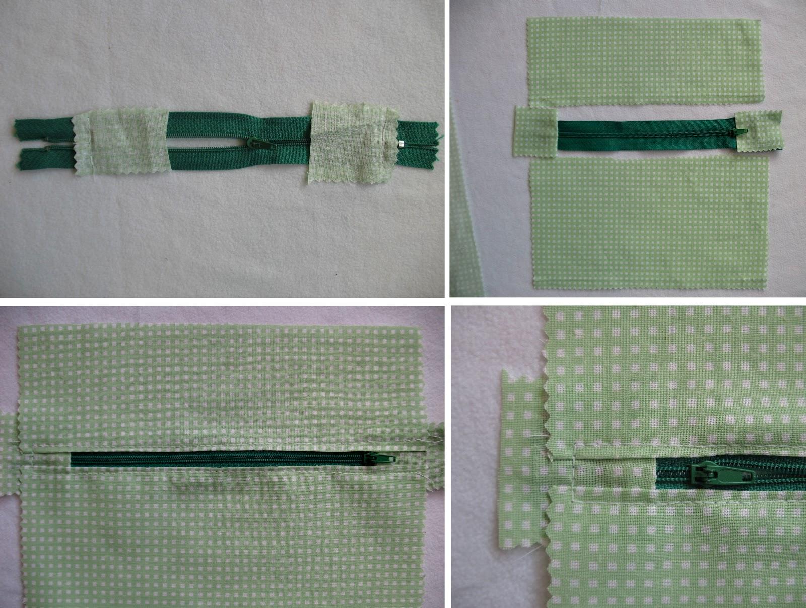 Вшиваем молнию в ткань