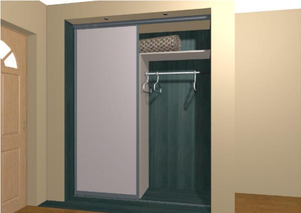 Встроенный маленький шкаф