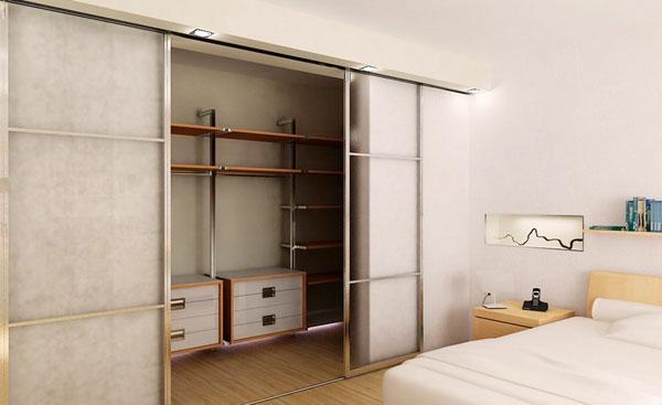 Встроенный шкаф-купе в гардеробную
