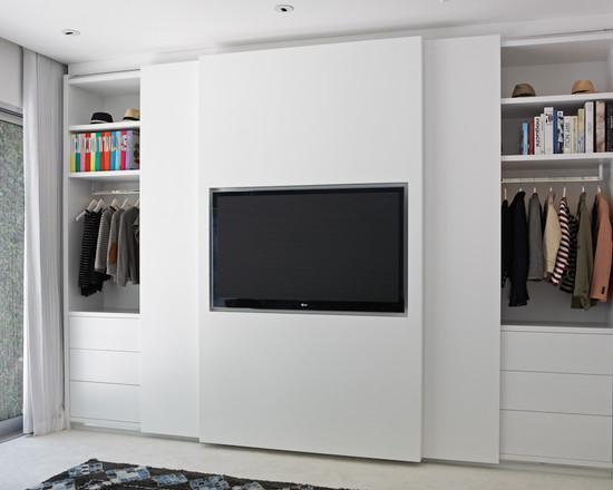 Встроенный шкаф под телевизор