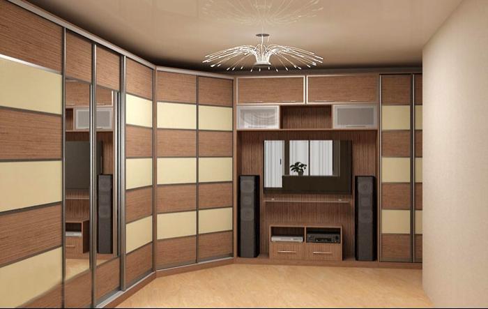 Встроенный шкаф в зал