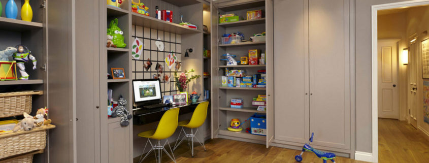 Встроенный шкаф для игрушек