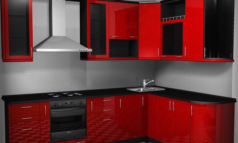 Высокоглянцевая пленка на кухонном гарнитуре