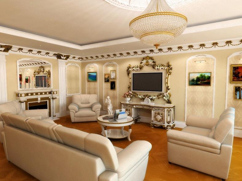 Зал в частном доме