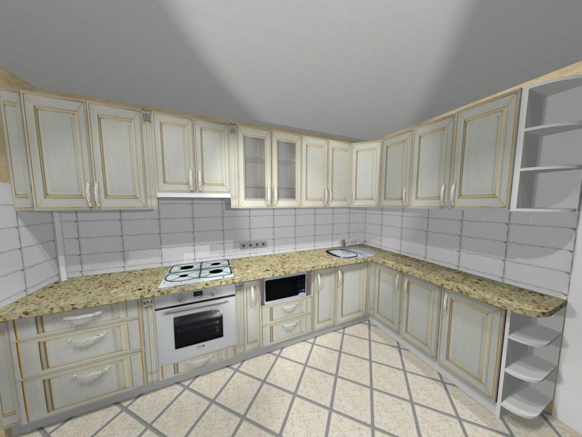 Замеры и проект мебели для обустройства кухни