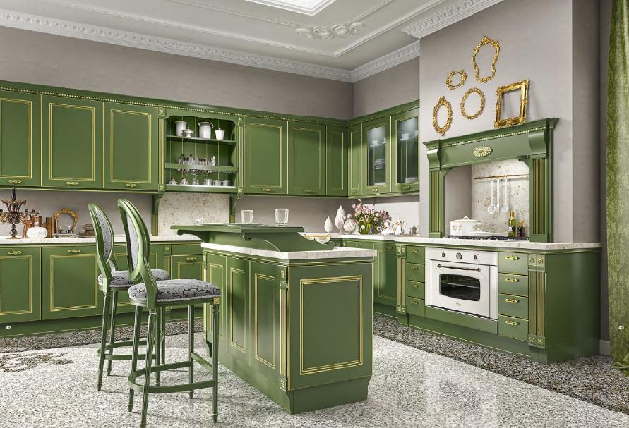 Зеленые покрытия на мебели