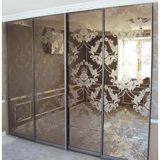 Зеркало бронза с пескоструем
