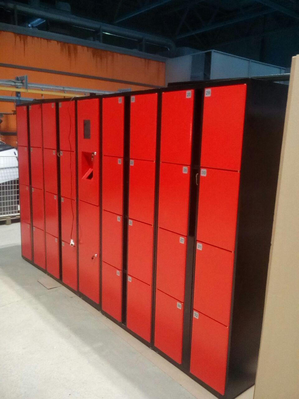 Автоматические шкафы для раздевалок с электронным замком