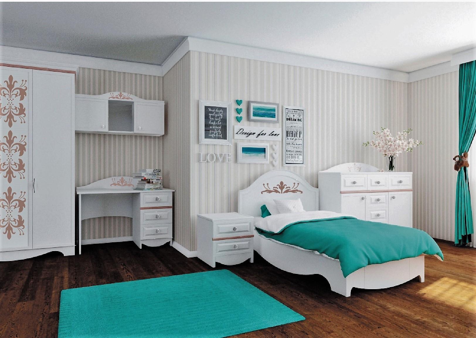 Белая детская мебель для спальни