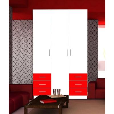 Бело-красный шкаф