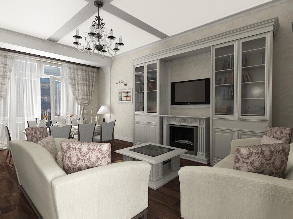 Белые карсивые диваны в стиле неоклассика