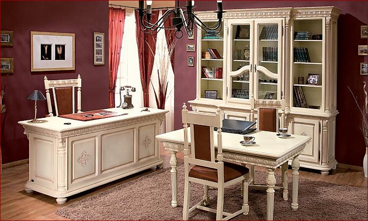 Белые оттенки мебели для руководителя
