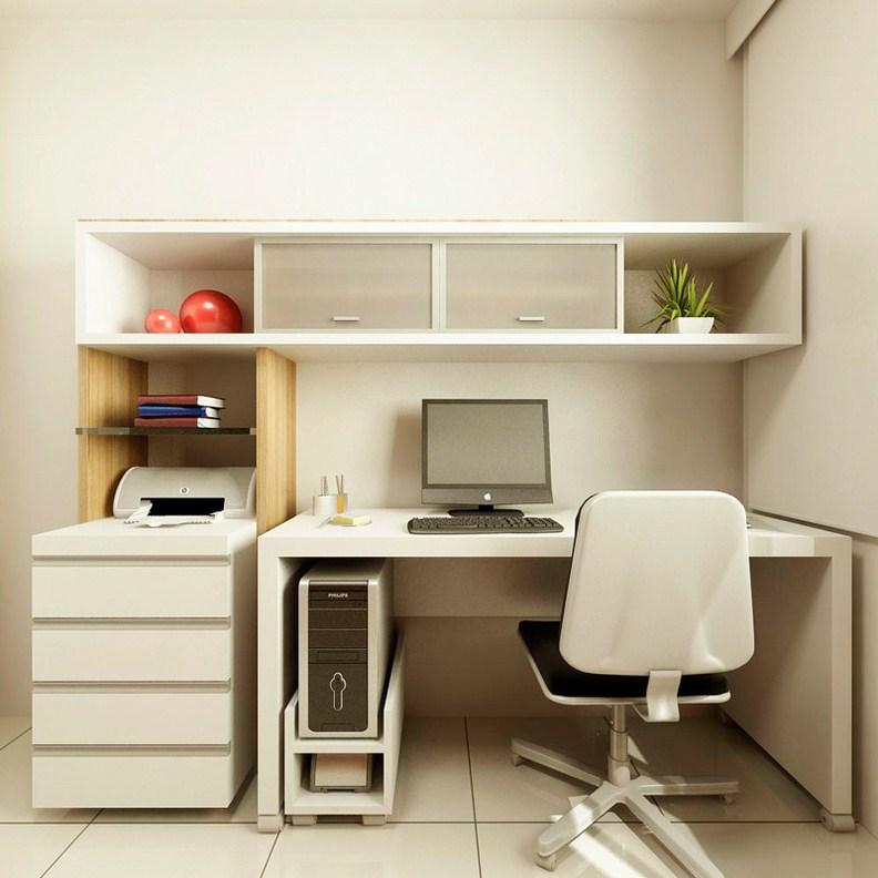 Белый стол в стилее минимализм