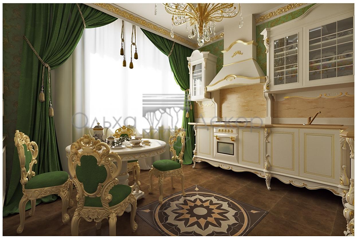 Белый цвет мебели в оригинальном оформлении