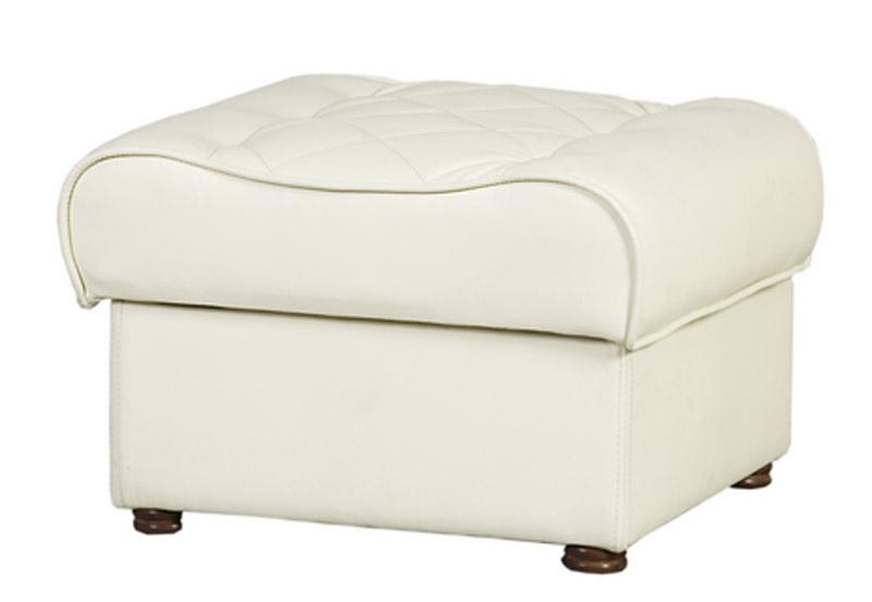Белый удобный пуф