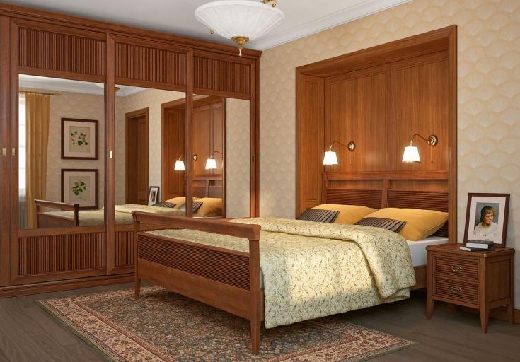 Большой шкаф-купе для спальни