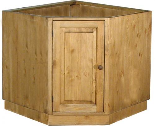 Деревянный угловой шкаф