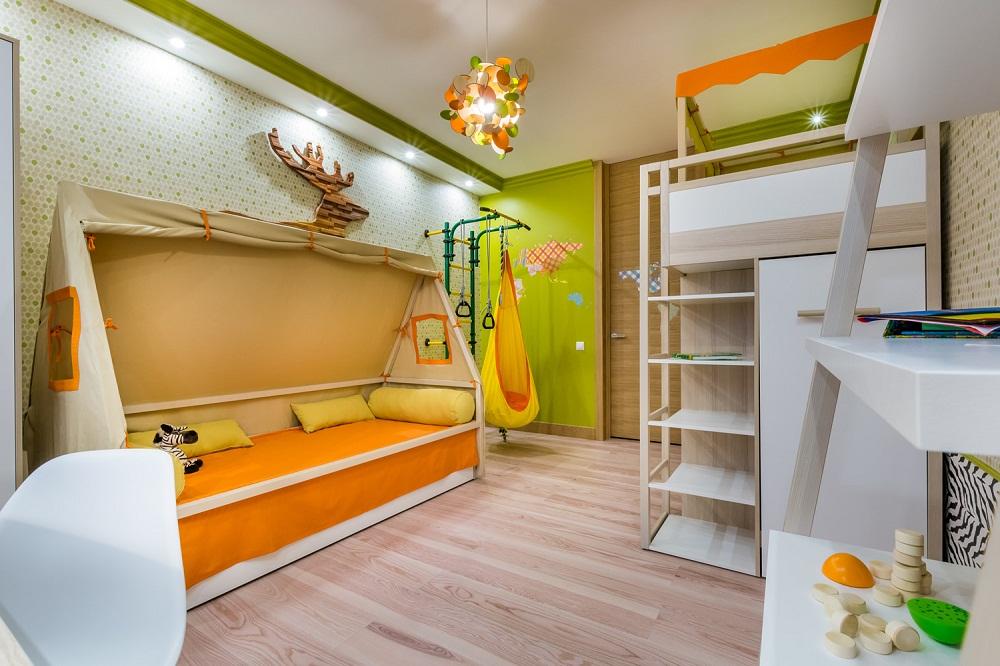 Детская комната 18 кв.метров для двоих детей